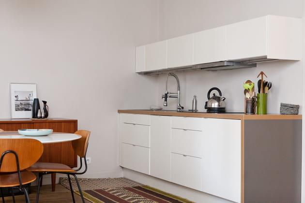 Une cuisine moderne et rétro