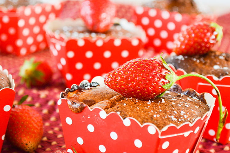 Moelleux rhubarbe et fraises