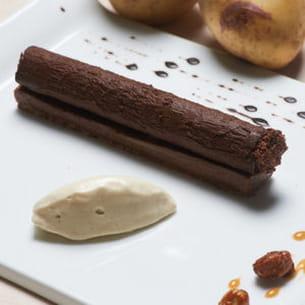 cigare chocolat, vanille et crème glacée