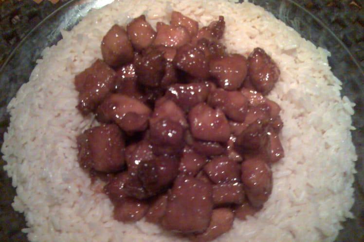 Porc au caramel au wok