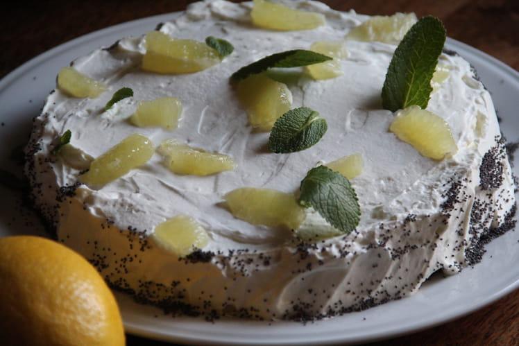 Gâteau magique citron et pavot bleu