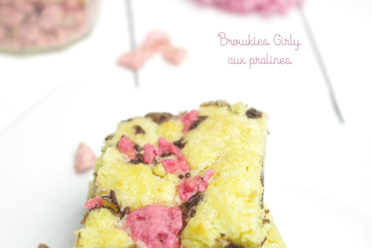 Brownie cookies Browkies girly aux pralines roses