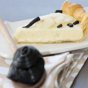 tarte aux poires et à la réglisse