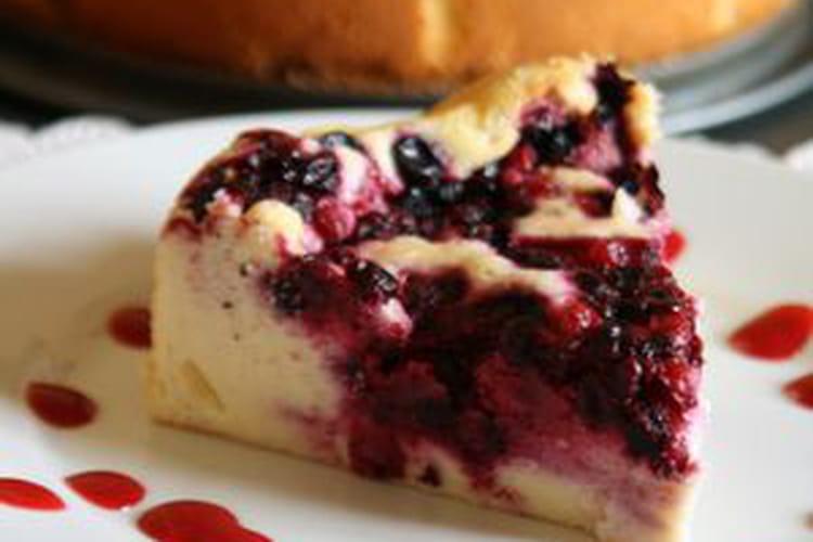 Gâteau au fromage blanc et aux fruits rouges