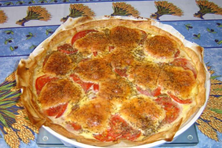 tarte tomate poivron mozzarella