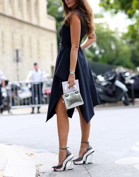 Street looks fashion week haute couture : asymétrique
