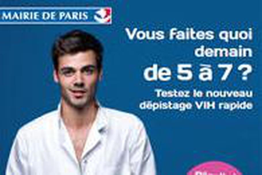 Un centre de dépistage rapide du sida à Paris
