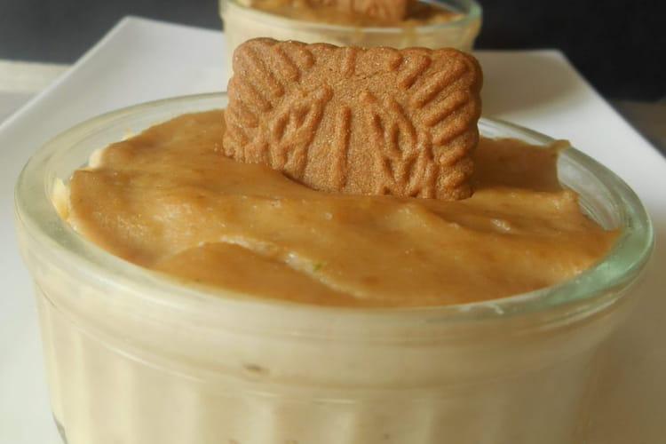 Crème dessert sans oeufs aux spéculoos