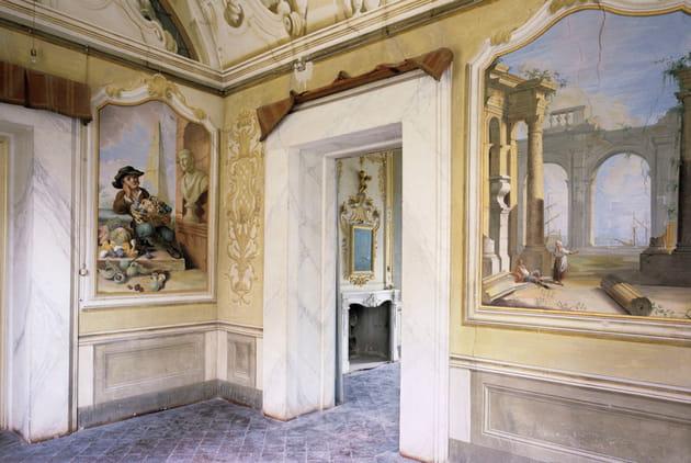 (11) villa garzoni, affreschi all'interno della villa, courtesy lionard