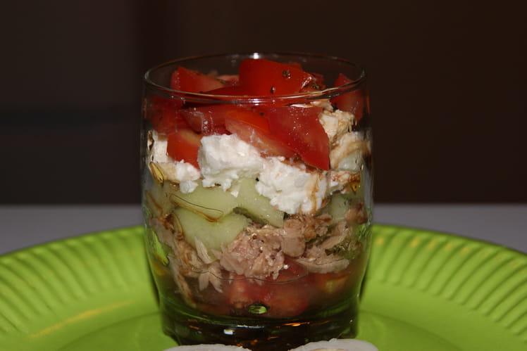 Tartare de tomates, concombre et thon