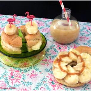 bagel banane caramel au beurre salé