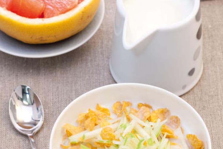 Céréales et lait de pomme