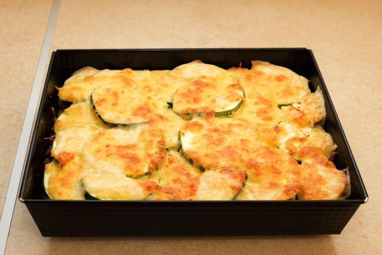 Gratin de pommes de terre aux courgettes