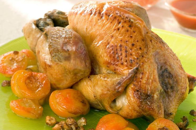 Pintade au four aux abricots et noisettes
