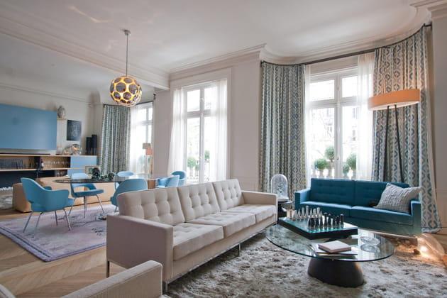 Salon bleu caenuleum et azur