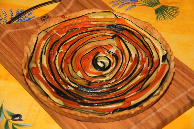 Tarte spirale aux courgettes et carottes