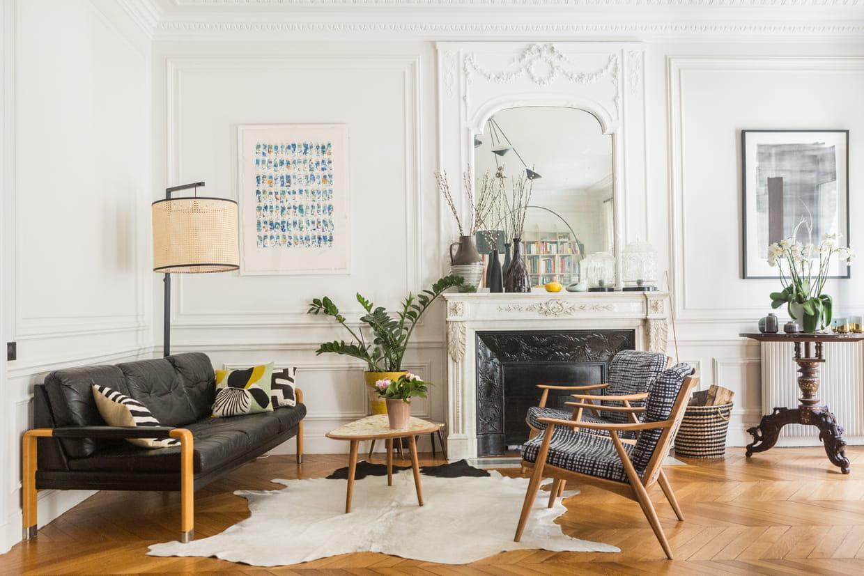 Décoration Salon Moderne Noir Et Blanc salon noir et blanc : 13 variantes de ce classique