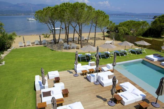 Des plages privées d'hôtels de luxe
