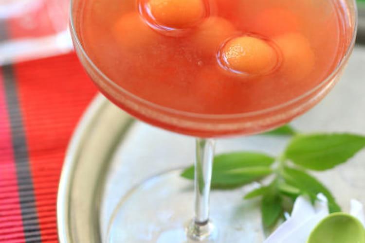 Cocktail au Melon, Vin doux naturel Rasteau Ambré et Thé à la Bergamote