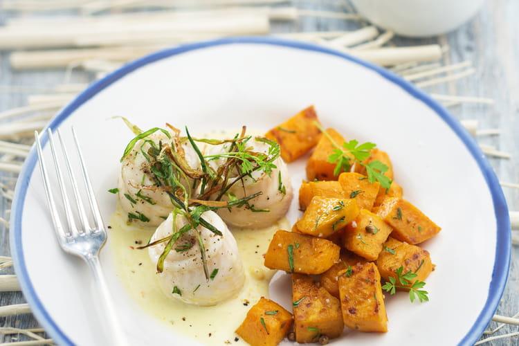 Filet de limande sole, patates douces et crème cardamome