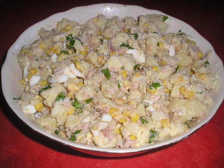recette de salade de thon au yaourt la recette facile. Black Bedroom Furniture Sets. Home Design Ideas