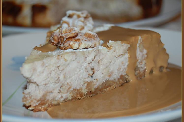 Cheesecake aux noix, sauce moka
