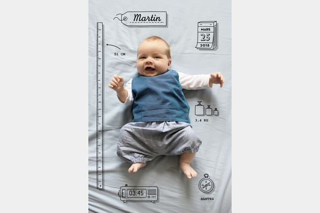 Un faire-part pour annoncer la naissance de bébé