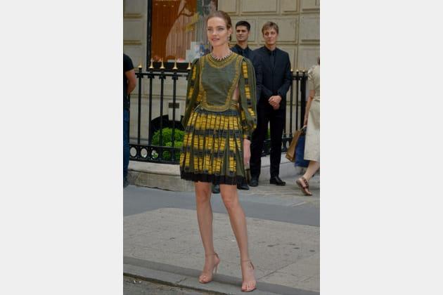 Natalia Vodianova au défilé Christian Dior