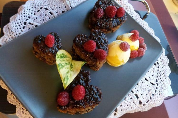 Cœurs cannelle et confiture de prune