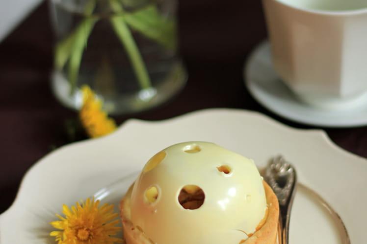 Tarte pommes, mascarpone et chocolat blanc