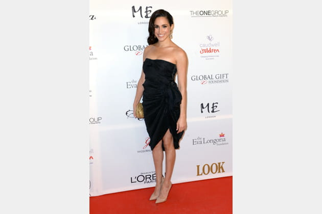 Meghan Markle en petite robe noire