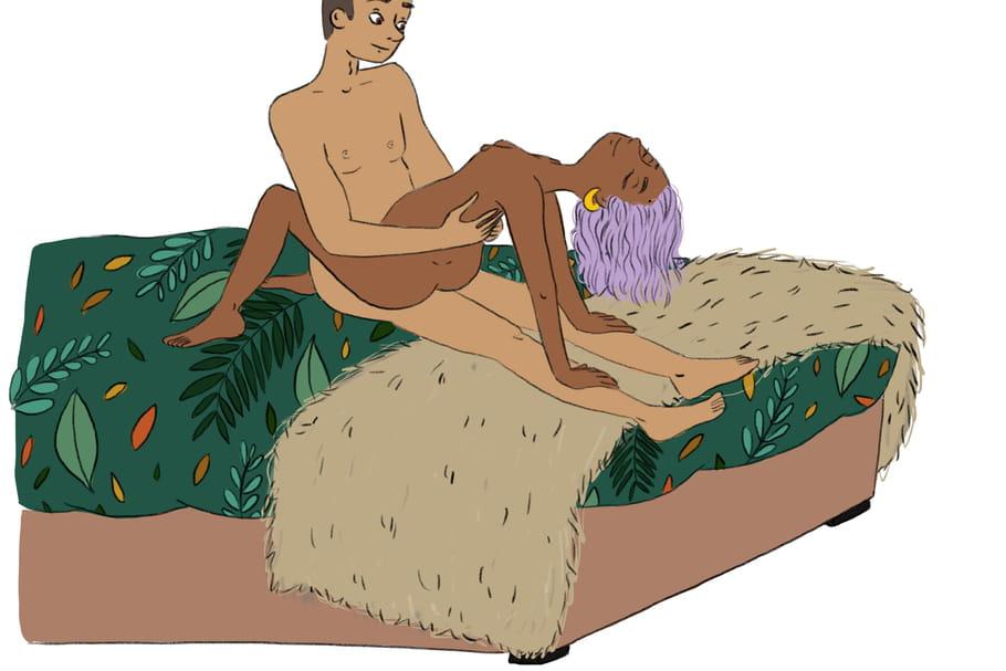 La position sexuelle de l'arc de triomphe, sensuelle et complice
