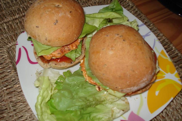Hamburger maison au saumon