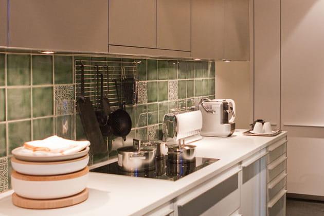 carrelage vert tendre. Black Bedroom Furniture Sets. Home Design Ideas