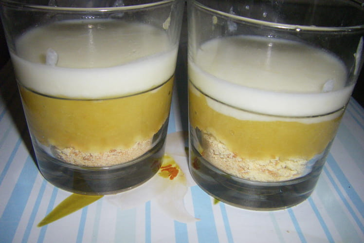 Verrines dessert aux abricots