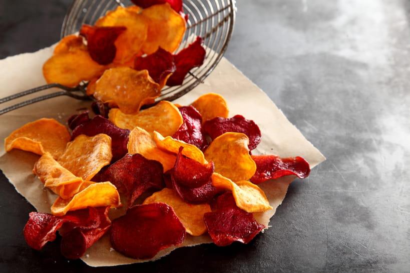 33recettes de chips et frites de légumes