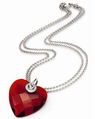 collier coeur cristal rouge de folli follie