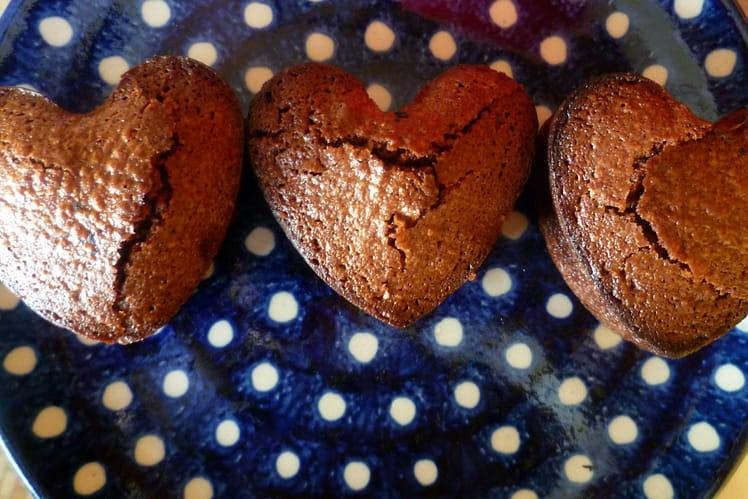 Fondant au chocolat coeur chocolat blanc