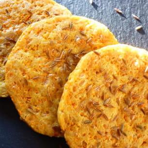 biscuits aux carottes et au cumin
