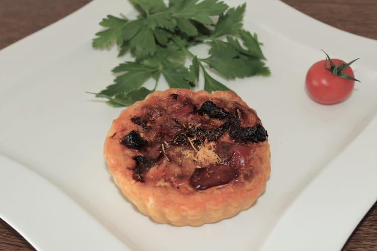 Tartelettes chorizo poivrons