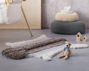 tapis peau de mouton bergère de france
