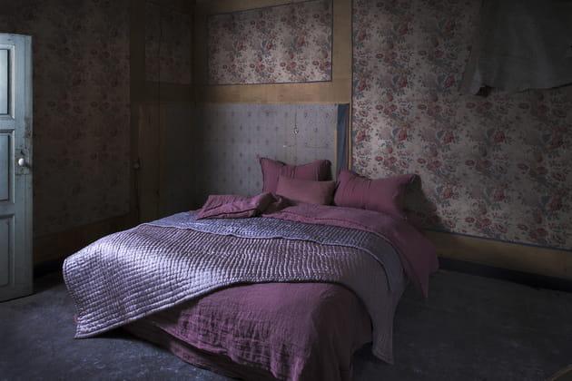 Linge de lit en lin assouplit par Le Monde Sauvage