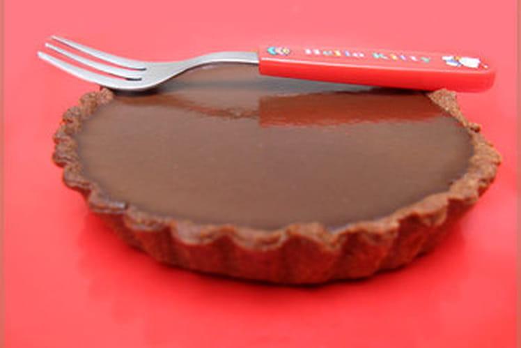 Tarte au chocolat onctueux