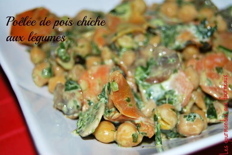 Poêlée de pois chiche aux légumes