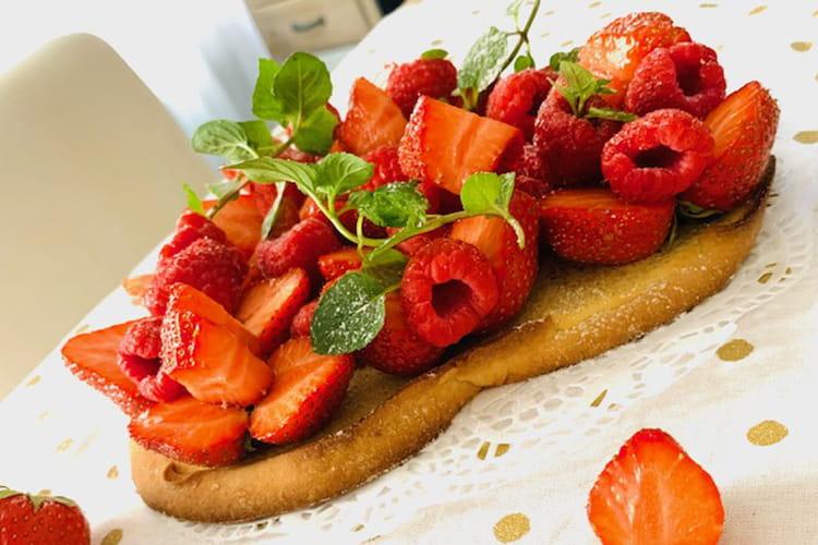 Love cake aux fruits rouges