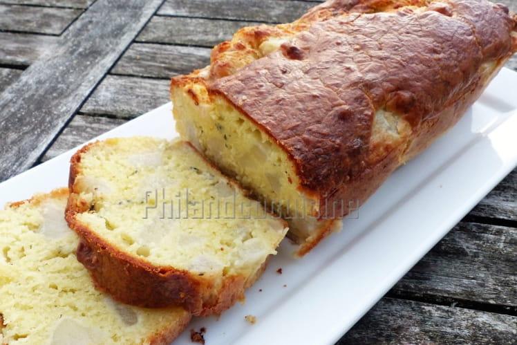 Cake poire roquefort et gruyère râpé