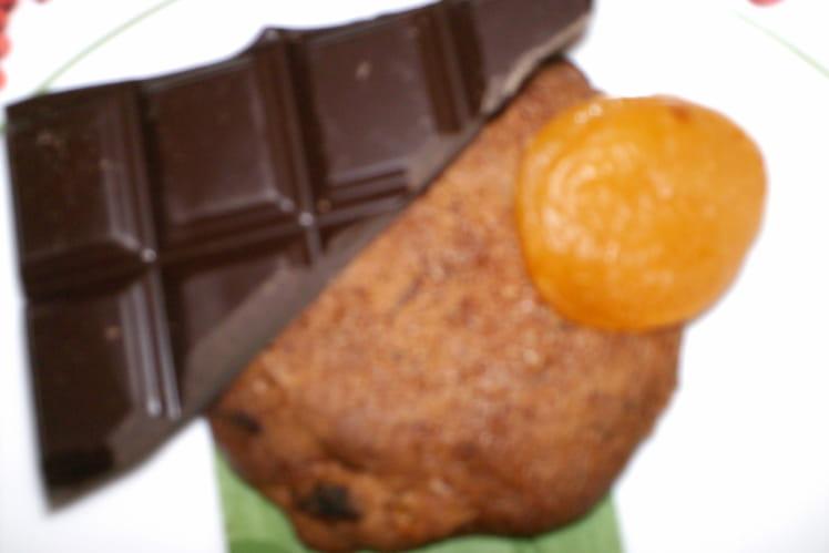Cookies chocolatés aux abricots secs