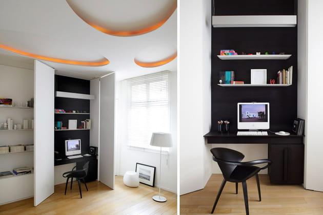 un bureau cach. Black Bedroom Furniture Sets. Home Design Ideas