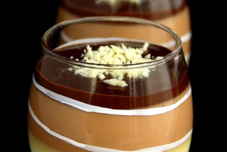 Panna cotta magique aux trois chocolats