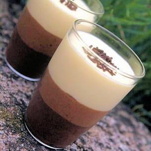verrines de trois mousses au chocolat